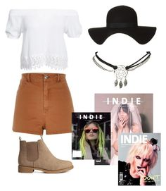 """Indie Fest"" by jewel-mt ❤ liked on Polyvore featuring Boohoo, River Island, Wet Seal, H&M and INDIE HAIR"