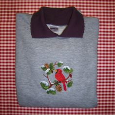 XL Winter Cardinal in Snowy Branches with by CountryTrlCollection