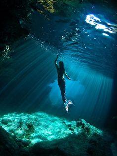 Mermaid enjoying the light... <3