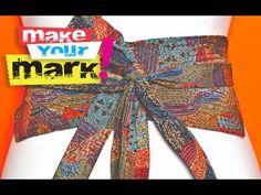How to make a Necktie Obi Belt DIY