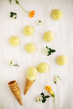 Kaffir lime /mango ice cream
