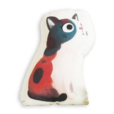 This cushion is really the cat's meow! Also known as the money cat, Calicos are thought to bring good luck. Toss it on the sofa or use as an accent pillow for your bed—this is one kitty that won't wake you up for breakfast at five in the morning. #pillow #kittie