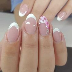 The 40 most attractive nail art style designs – Page 17 – Kornelia Nowak Elegant Nail Designs, Nail Art Designs, Gorgeous Nails, Pretty Nails, French Manicure Nails, French Nail Art, Bridal Nails, Types Of Nails, Flower Nails