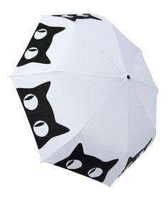 This Big Eyes Cat Umbrella is perfect! #zulilyfinds