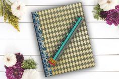 Black Diamond Journal birthday gift custom notebook by Teakberry