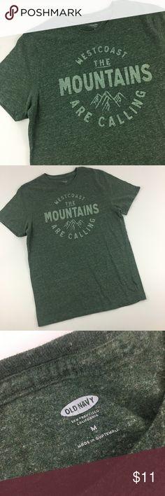 2b1dc5cfa Old Navy green west coast mountain tshirt Good condition short sleeve crew  neck tshirt 19-
