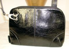 Bo Bo Bags of California Black Leather Shoulder Crossbody Bag #BoBoBagsofCA #ShoulderorCrossbody