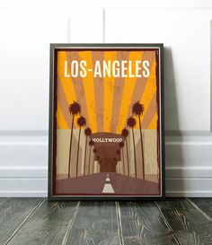 Minimalist travel print. A beautiful and minimalist Los Angeles travel poster. Visit my store for more prints of cities and countries. Most of my prints are now available for you to print at home in my other shop here: www.etsy.com/uk/shop/NordicDesignHouseCo MY PRINTS Prints are produced on a professional Canon printer using Canon dye based inks and a 6 colour system to ensure vivid and rich coloured prints every time. Actual colours may vary slightly as each monitor displays colours…