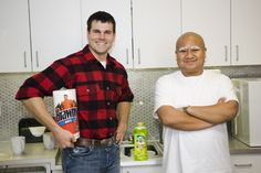 Brawny Man and Mr. Clean