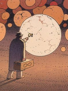 made by: Moebius , illustrations - (Keyhole and key) Jean Giraud, Science Fiction, Art And Illustration, Comic Books Art, Book Art, Moebius Art, Moebius Comics, Ligne Claire, Comic Kunst
