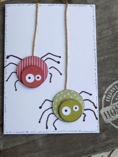 Good Pics button Crafts for Kids Tips Here we are at education could be a daunting time period for just about any child. It's a modifica Fall Crafts, Diy And Crafts, Paper Crafts, Diy For Kids, Crafts For Kids, Button Crafts, Kids Cards, Halloween Crafts, Halloween Ideas