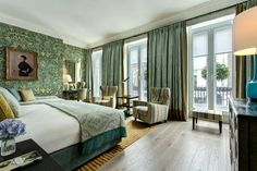 It may be the oldest hotel in London, but Brown's is no museum piece. The sense of history is palpable – in the rich wood paneling, the stained-glass windows, the antique artwork – but there's a fabulously fresh modernity, too. Olga Polizzi, co-founder and Director of Design at Rocco Forte, has a truly enviable eye: wallpapers are emblazoned with blossoms and birds; vast chandeliers glitter in the eaves, and even the floor – a hypnotic pattern of tiny mosaic tiles – delivers Roman grandeur. Brown Hotel, If Rudyard Kipling, Le Havre, London Hotels, Hotel Suites, Stay The Night, Cool Rooms, Best Hotels, Interior Design