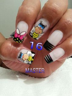 Nail Art Designs Videos, Nail Designs, Natural Acrylic Nails, Magic Nails, Nailart, Manicure, Hair Beauty, Lily, Make Up