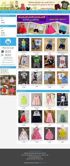 Giao diện website bán hàng thời trang trẻ em cực ấn tượng