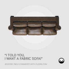 Cleerk.com - facebook campaign - subject SOFA1 #advertising #cleerk #ecommerce #revolution #sofa #leather