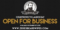 Our beard wipes are now available at our online store: www.zekesbeardwipes.com  Use the code: NOWOPEN for a 20% discount.  The essential beard oils (jojoba oil, coconut oil and argan oil) in our beard wipes help keep your beard looking great throughout the day. Mobile beard care!
