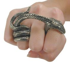 snake ring statement piece