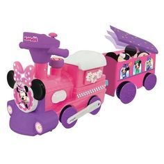 Girls Ride On Toy Minnie Mouse Motorized Train Battery Operated Toy Storage #Kiddieland