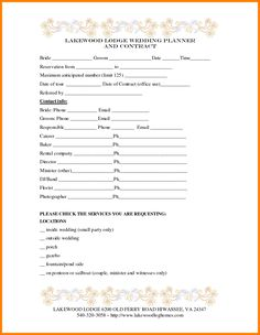 The 13 best wedding planning forms images on pinterest wedding 7 best images of printable wedding planner contract agreement wedding planner contract template wedding planner contract sample templates and event junglespirit Image collections