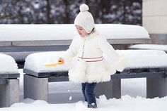 The Swedish Royal Court has released four new photographs of the adorable princess on the occasion of her third birthday, picturing Princess Estelle in a real Swedish winter wonderland.