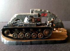 German Tank WW2 w/Ruins Diorama 1/76 scale skill 3 Revell plastic model kit#3229  DONE BY LEMAYPIXELART  #model kits #moebius #batman #aurora #polar lights #krylon #vallejo #miniatures #gunpla #hobby #plastic #resin #vinyl models #horizon #vintage #glue #brushes #acrylics