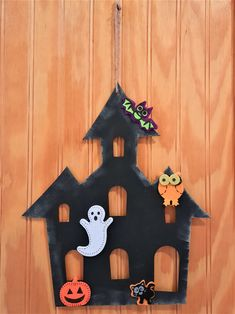 halloween Hanging decoration White Ghost Laser Cut Painted Plywood With Ribbon.
