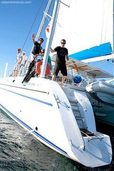 #tb #sailing #catamaranscup Sailing Catamaran, Yacht Boat, Speed Boats, Jet Ski, Water Crafts, Skiing, Link, Ski, Power Boats
