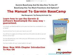 nice #BaseCamp Manual - Get your tutorial to Garmin BaseCamp here — BaseCamp Manual - Get Expert in Using BaseCamp