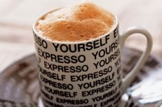 Expresso Yourself coffee gif good morning graphic good morning greeting expresso cup of coffee Coffee Gif, Coffee Love, Coffee Cups, Austin Cafe, Restaurants, Cafe Shop, Restaurant Branding, Good Morning Greetings, Latte