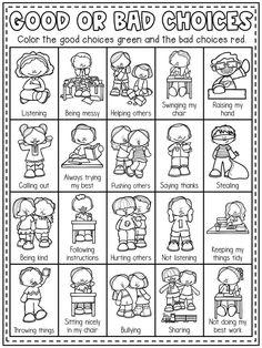 Kindergarten Behavior, Homeschool Kindergarten, Classroom Behavior, Preschool Lessons, Preschool Worksheets, Preschool Learning, Preschool Activities, Preschool Rules, Classroom Rules