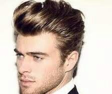Slicked Back Loose Pompadour Hairstyle