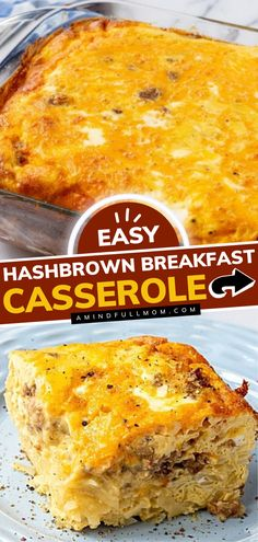 Look no further than the BEST breakfast casserole recipe! Made with hashbrowns, eggs, cheese, and sausage, it is hearty and filling. Plus, this easy breakfast is perfect for a crowd! Save this pin! Breakfast Casserole With Biscuits, Easy Breakfast Casserole Recipes, Overnight Breakfast Casserole, Real Foods, Easy Recipes, Whole Food Recipes, Easy Family Meals, Easy Meals, Tasty