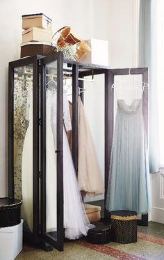 Mirrored Display Armoire