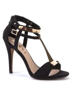 Black (Black) Ravel Black Metal Detail Party Sandals | 271371601 | New Look