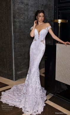 "dimitrius dalia 2018 royal off the shoulder deep plunging sweetheart neckline full embellishment elegant fit and flare wedding dress low open back chapel train mv -- Dimitrius Dalia ""Royal"" Wedding Dresses Wedding Wows, Wedding Suits, Dream Wedding, Fit And Flare Wedding Dress, Types Of Dresses, Bridal Collection, Bridal Dresses, Marie, Ball Gowns"