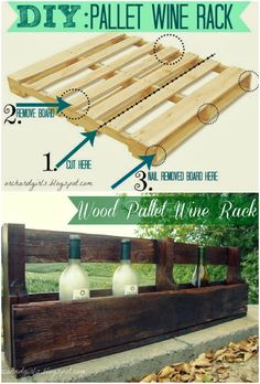Play one of these free DIY wine probe plans to design a violet rack specifically for your residence or maybe as a gift. Pallet Furniture Wine Rack, Pallet Wine Rack Diy, Wood Wine Racks, Wine Glass Holder, Wine Rack From Pallets, Kitchen Furniture, Diy Pallet Projects, Pallet Ideas, Pallet Crafts