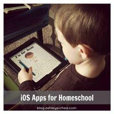 iOS Apps for Homeschool (preschool thru 2nd grade)