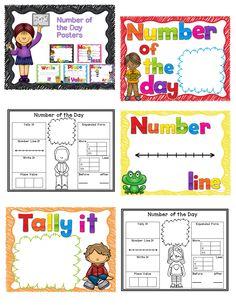 Number of the Day Posters with Student Response Sheets  Number of the Day activities can build greater number sense for your students and get them warmed up for more! This set of Number of the Day Posters are colorful and engaging. Use them during your morning math  calendar time.