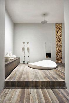 Idée unique de design salle de bains moderne en bois | décoration, salle de bain, bathroom. Plus d'idées sur http://www.bocadolobo.com/en/products/mirrors.php