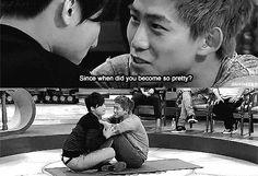 {GIF} Daesung and the Secret Garden scene... So funny