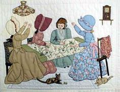 Looks like Caroline, Jewell, Miss Hattie, and Maren from the St. Charles Quilting Circle in Ripples Along the Shore.