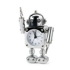 Robot wekker. Verkrijgbaar bij Reas WoonDeco in Hoogeveen. Robots, Robot