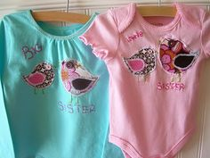 little and big sibling shirts tutorial