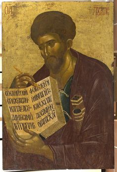 The Apostle and Evangelist Luke. 14th c. Vatopedi Monastery, Mt Athos, Greece.