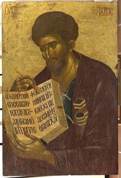 The Apostle and Evangelist Luke. 14th c. Vatopedi Monastery, Mt Athos, Greece.