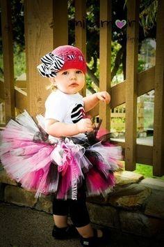 Hot Pink Zebra Super Fluff Tutu Outfit $35.95 #etsy #tutu #zebra