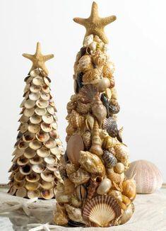 Без названия — Поделки из ракушек своими руками. Поделки из... Anul Nou, Samana, Coastal Decor, Decor Crafts, Craft Projects, Project Ideas, Sea Shells, Boho, Christmas