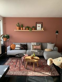 Good Living Room Colors, Living Room Color Schemes, Living Room Grey, Home And Living, Boho Living Room, Living Room Ideas Pink And Grey, Dining Room Colors, Simple Living, Home Room Design