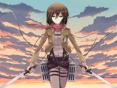 Shingeki no Kyojin: Mikasa Ackerman by 映雨 Mikasa, Armin, Wandering Son, Attack On Titan 2, Fan Anime, Weird Dreams, Pandora Hearts, Manga, Anime Artwork