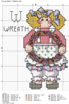 alfabeto dolly: W = wreath